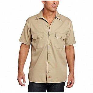 Men's Big and Tall Short-Sleeve Work Shirt