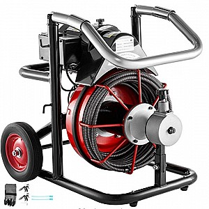 Mophorn 50 Ft x 1/2Inch Drain Cleaner Machine