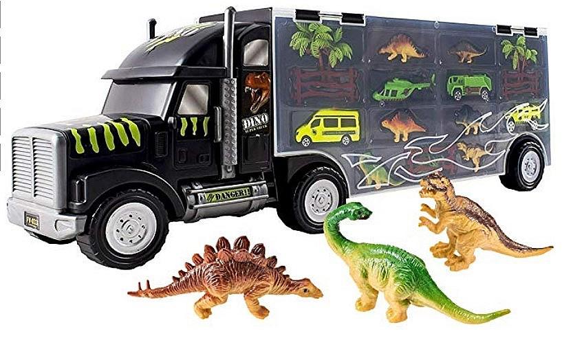 Giant Dinosaur Transporter Truck Toy Carrier