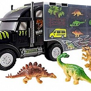 Giant Dinosaur Transporter Truck Toy Carrier