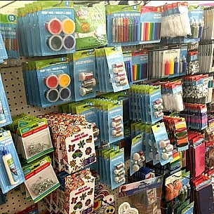 Craft Supply Shelves