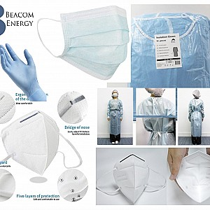 PPE (masks, gowns, gloves, sanitizers)